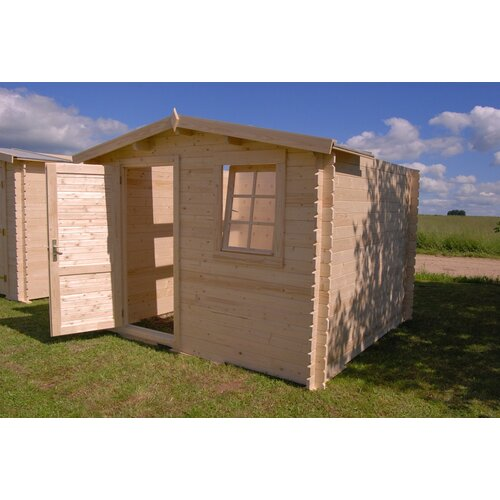 "SolidBuild Optima 9'9"" W x 9'9"" D Solid Wood Garden Shed"