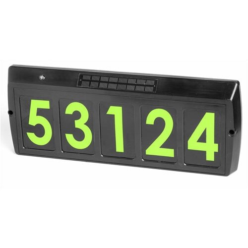 Solar Charged Address Plaque