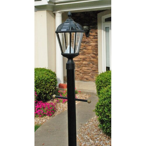 Gama Sonic Royal Seven-LED Solar Light Fixture on Three-Inch-Diameter Pole Fitter