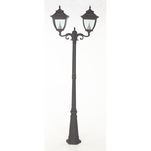 "GamaSonic Pagoda 2 Light 90"" Solar Post Lantern Set"