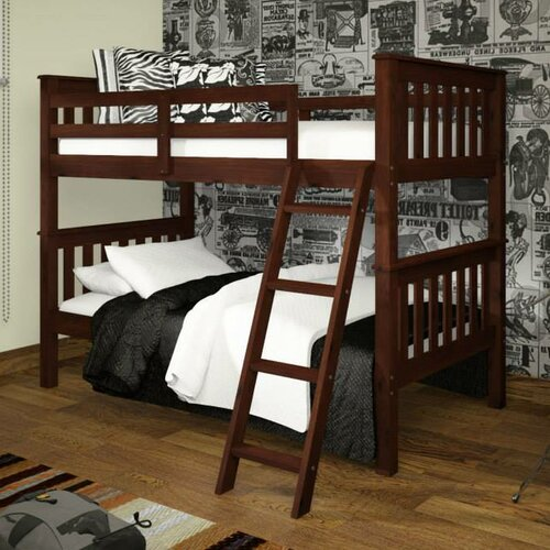 Donco Kids Twin Mission Bunk Bed with Tilt Ladder