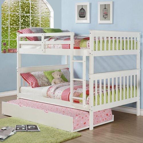Donco Kids Mission Full Over Full Bunk Bed with Roll out