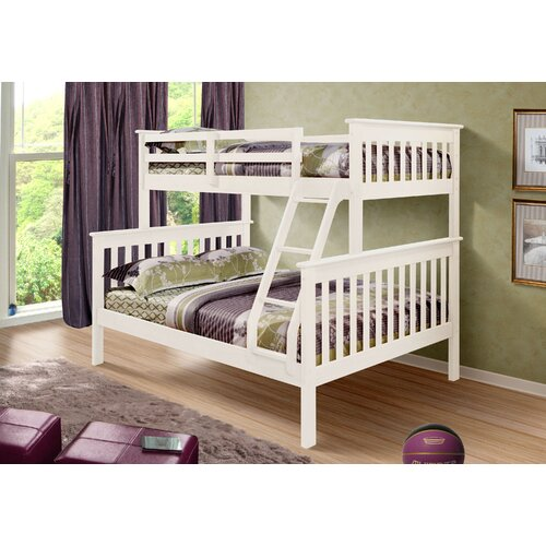 Donco Kids Twin over Full Bunk Bed with Built-In Ladder