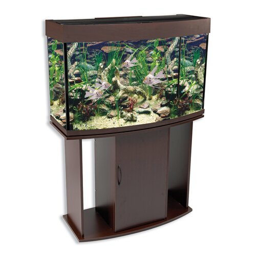 Penn Plax 58 Gallon Bow-Front Aquarium Tank