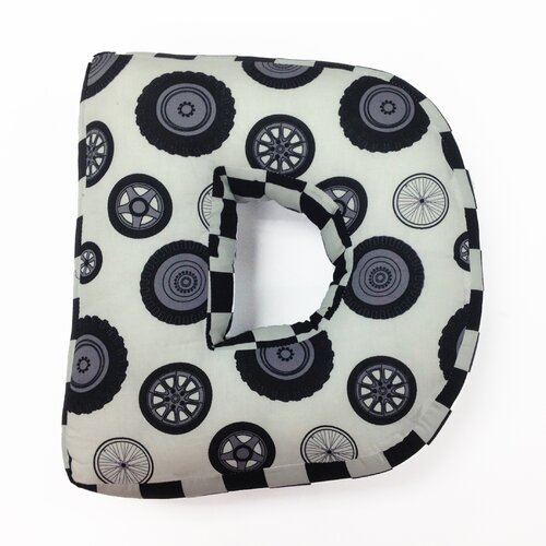 "One Grace Place Teyo's Tires Letter Pillow ""D"""