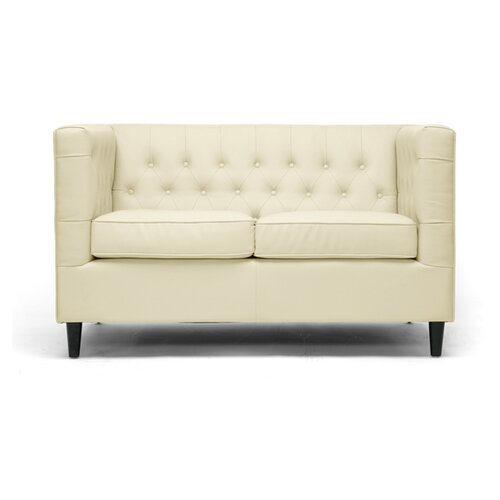 Baxton Studio Darrow Leather Loveseat