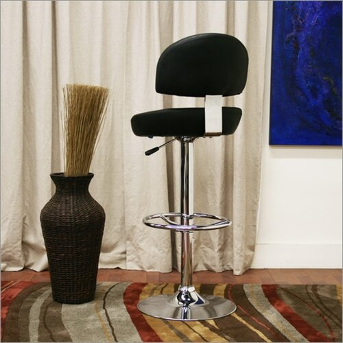 "Wholesale Interiors Baxton Studio Grayson 25.5"" Adjustable Swivel Bar Stool"