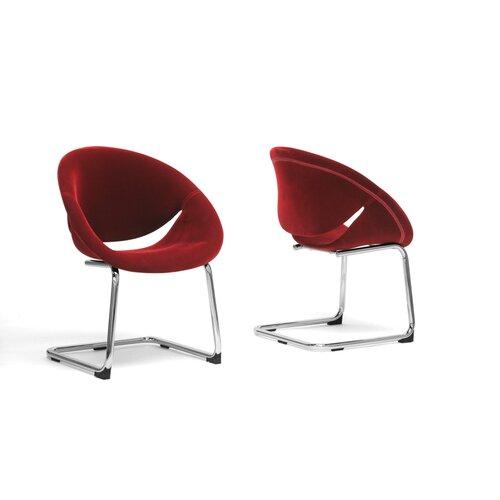 Baxton Studio Dufresne Velveteen Side Chair (Set of 2)
