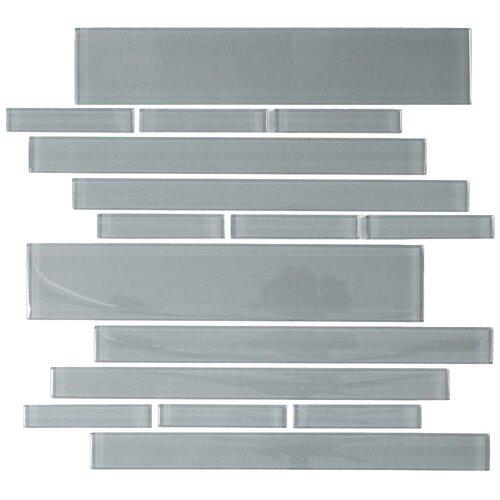 Club Random Sized Cristezza Glass Tile in Gray