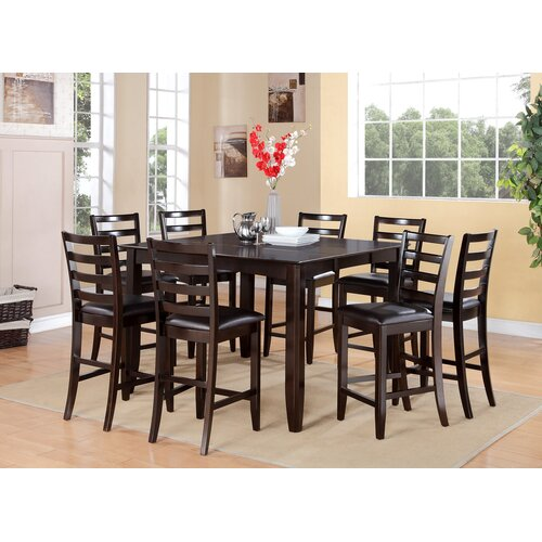 East West Fairwinds 9 Piece Counter Height Dining Set