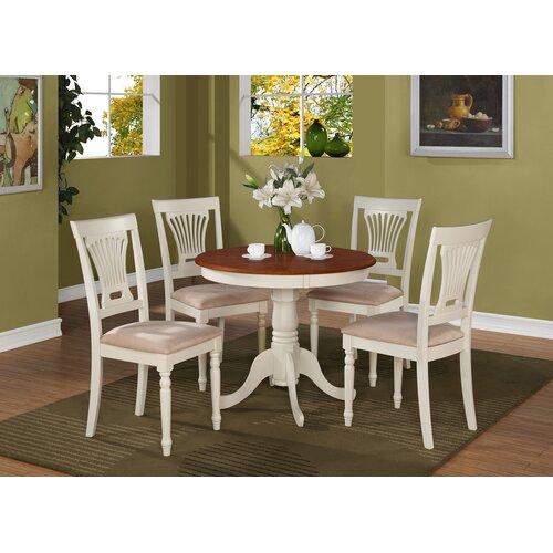 Wooden Importers Lynfield 6 Piece Dining Set: WOIM Antique 5 Piece Dining Set & Reviews