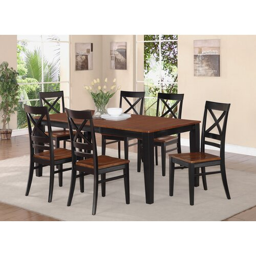 Wooden Importers Lynfield 6 Piece Dining Set: WOIM Quincy 7 Piece Dining Set & Reviews