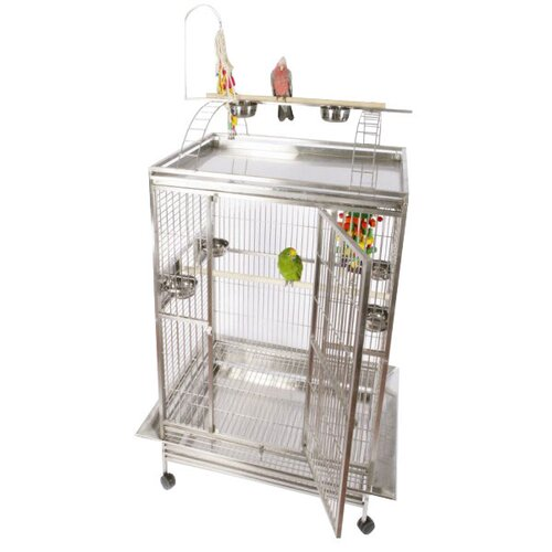 Enormous Play Top Bird Cage with Toy Hook