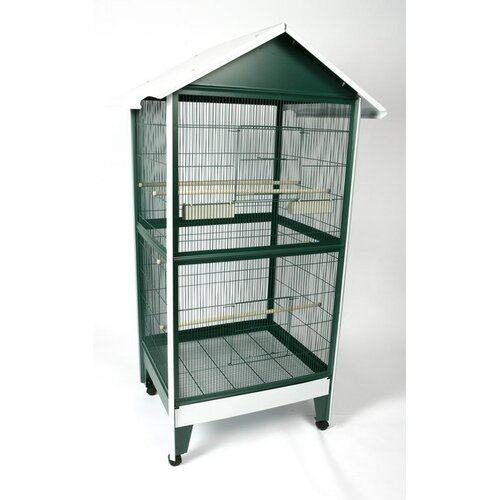 A&E Cage Co. Large Pitched Roof Bird Aviary