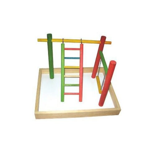 "A&E Cage Co. 20""x15""x14"" Wood Tabletop Play Station"