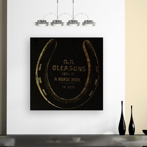 Oliver Gal ''Gleasons Horse Shoe'' Vintage Advertisement on Canvas