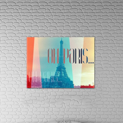 Oliver Gal ''Oh Paris'' Graphic Art on Canvas