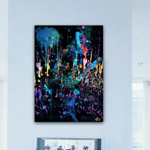 "Oliver Gal ""Darkest Hour"" Painting Print on Canvas"