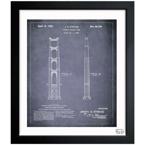 Oliver Gal Golden Gate Bridge 1932 Framed Graphic Art