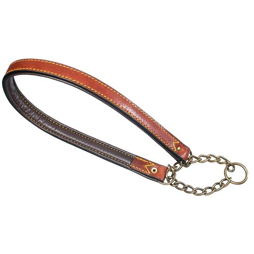 Classic Padded Semi Choke Leather Dog Collar