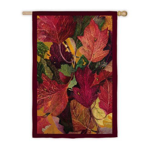 Evergreen Flag & Garden Colorful Fall Leaves Garden Flag