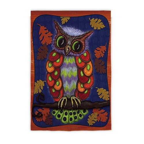 Colorful Owl Garden Flag
