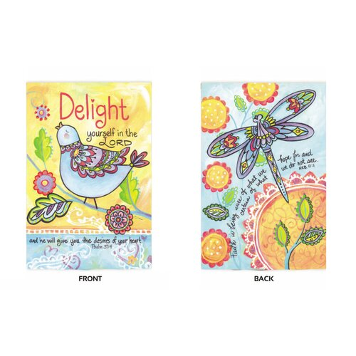 Delight Yourself In The Lord 2-Sided Garden Flag