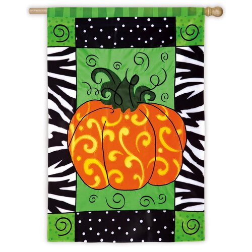 Evergreen Flag & Garden Pumpkin Whimsy Garden Flag