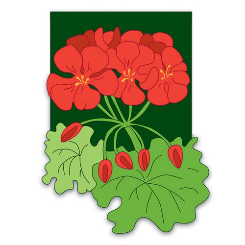 Geraniums 2-Sided Garden Flag