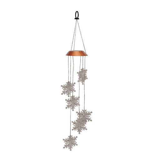 Snowflake Solar Mobile Wind Chime
