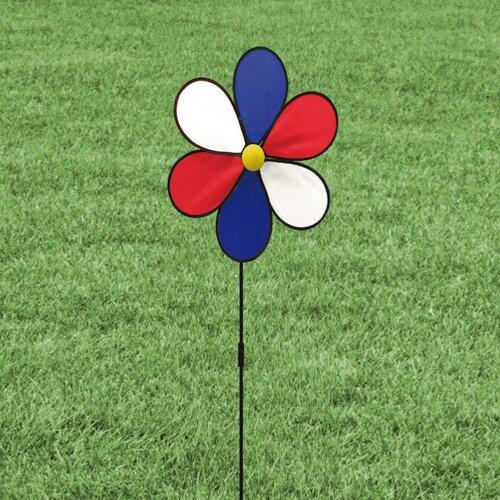 Evergreen Flag & Garden Patriotic Flower LED Yard Spinner