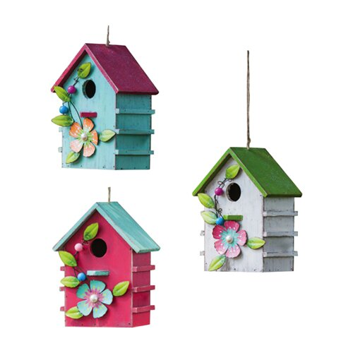 New Creative Floral Adorned Hanging Birdhouse