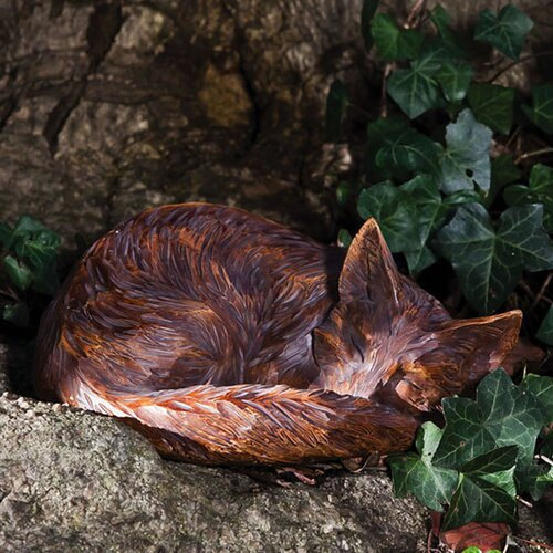 Forest Friends Sleeping Fox Statue