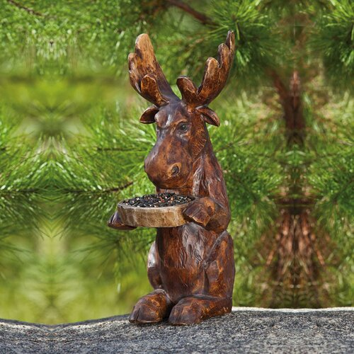 Forest Friends Moose Statue