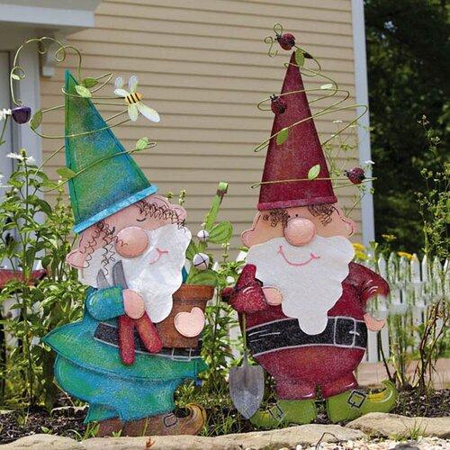 Bright Companions Gnome Garden Stake (Set of 2)