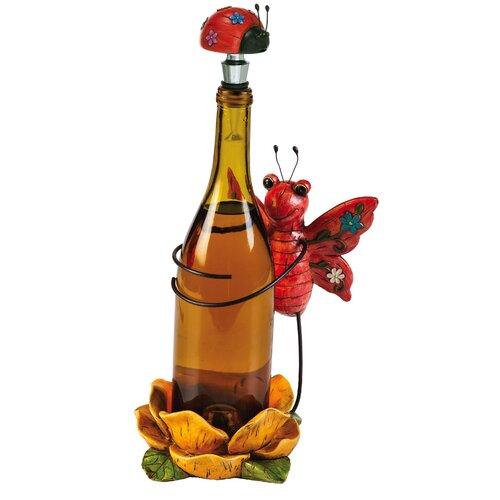 Polystone Butterfly Wine Bottle Holder