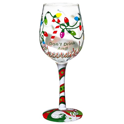 don 39 t drink and decorate hand decorated wine glass wayfair. Black Bedroom Furniture Sets. Home Design Ideas