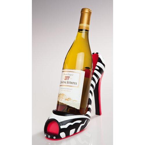 Zebra High Heel Wine Bottle Holder