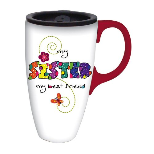 Cypress Home My Sister Latte Travel Mug