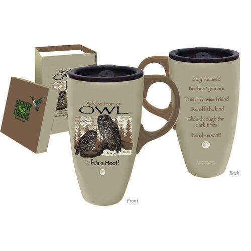 Cypress Home Advice from an Owl Travel Latte Mug