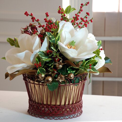 Holiday Classic Magnolia Basket