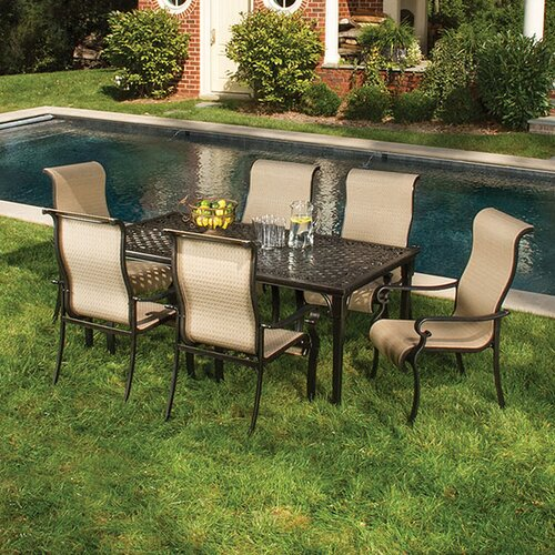 hanover outdoor brigantine 7 piece outdoor dining set reviews