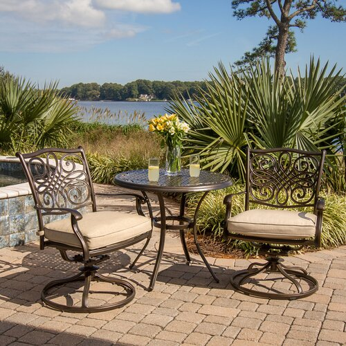 Traditions 3 Piece Bistro Set with Cushions