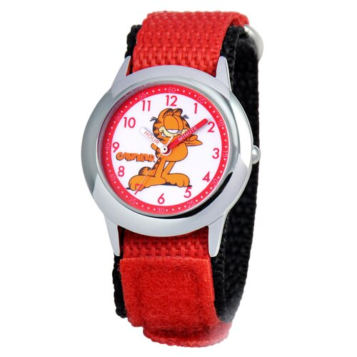 Garfield Kid's Time Teacher Velcro Strap Watch