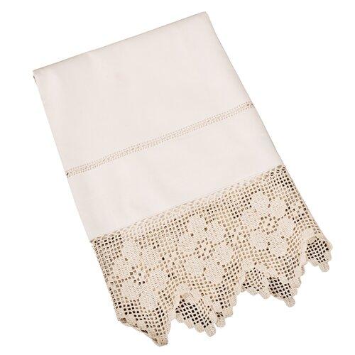 Saro Filet Crochet Guest Towel