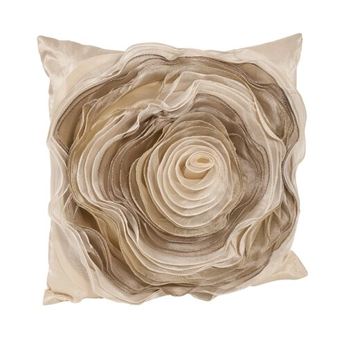 Saro Rose Polyester Pillow