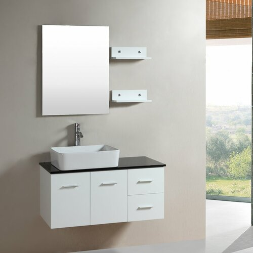 dreamline 24 quot single wall mounted modern bathroom vanity