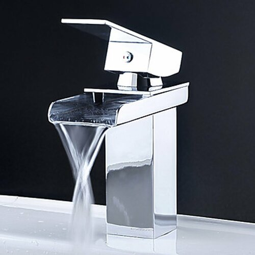 Single Handle Single Hole Waterfall Bathroom Sink Faucet