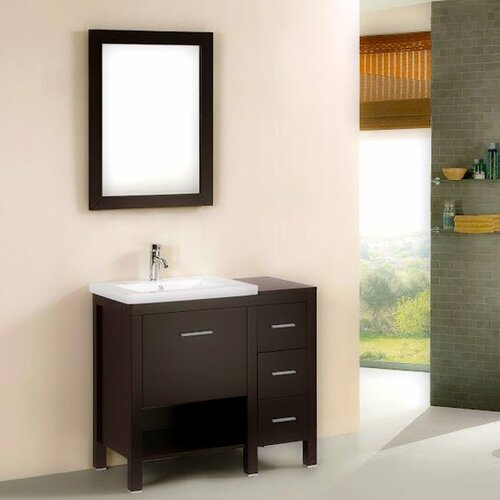 Open Shelf Bathroom Vanity Wayfair