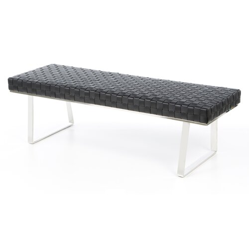 Nuevo Karlee Leather Bench